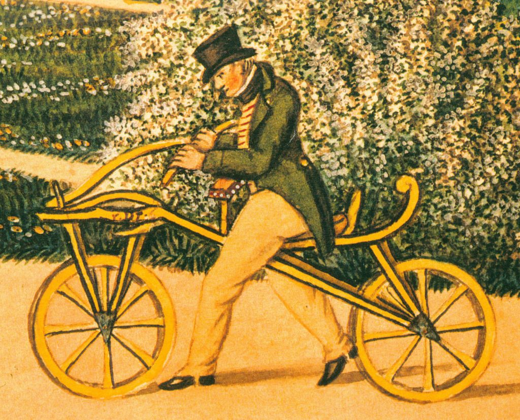 First bicycle invented without brakes karl von drais